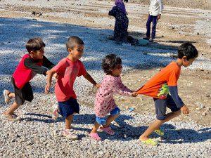 Dzieci z obozu na Lesvos