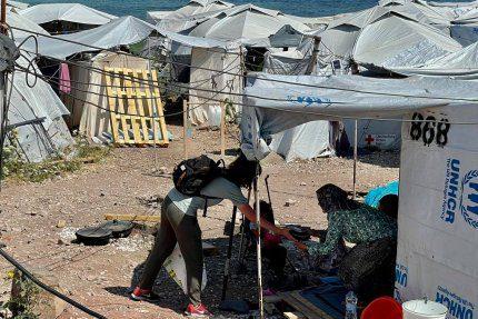 W obozie Moria 2.0 nie tylko leczymy, ale też pomagamy w dostarczaniu posiłków